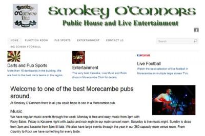 Smokey O'Connors Pub Website
